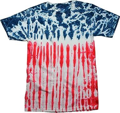 Camisa de la Bandera de los Estados Unidos, Color Rojo, Blanco y Azul Small: Amazon.es: Ropa y accesorios