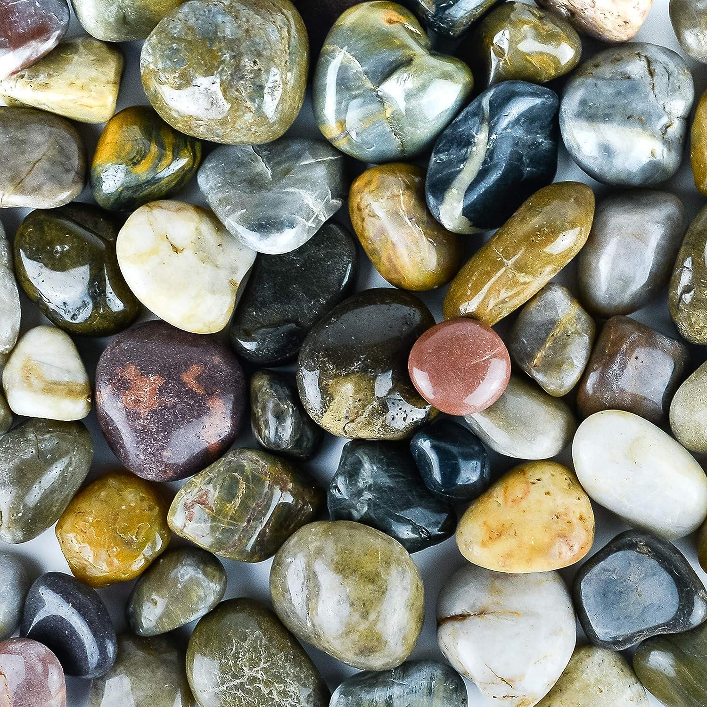 Galashield River Rocks Polished Pebbles Decorative Stones Natural Aquarium Gravel 5 Lb Bag Garden Outdoor