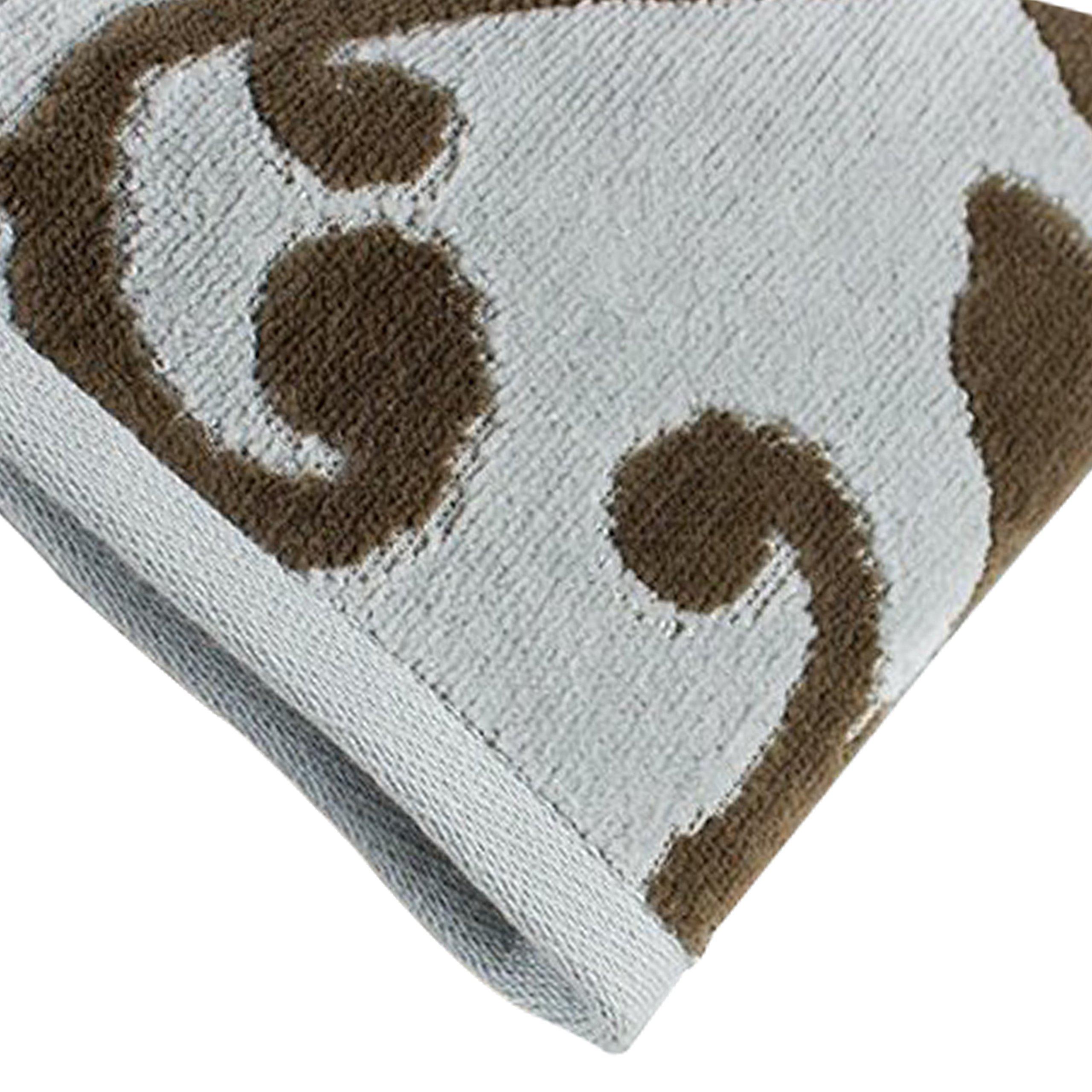 Luxor Linens - 100% Cotton 5 PC Absorbent Jacquard Towel Set, Hotel Luxury- 2 Bath Towels, 2 Hand Towels, 1 Wash Cloth Provance Collection (1 Bath Towel)