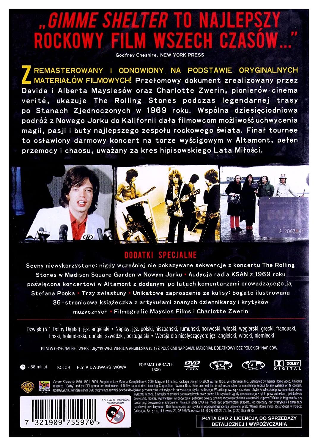 Amazoncom Rolling Stones In Gimme Shelter Dvd English Audio