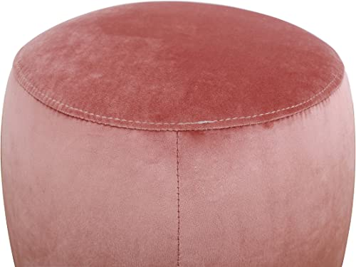 TOV Furniture The Willow Collection Modern Velvet Upholstered Round Ottoman