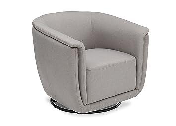 Delta Children Skylar Nursery Glider Swivel Rocker Tub Chair, French Grey