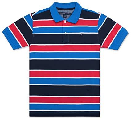 770844f13c6aa Amazon.com  Tommy Hilfiger Boys  Stripe Polo Shirt  Clothing