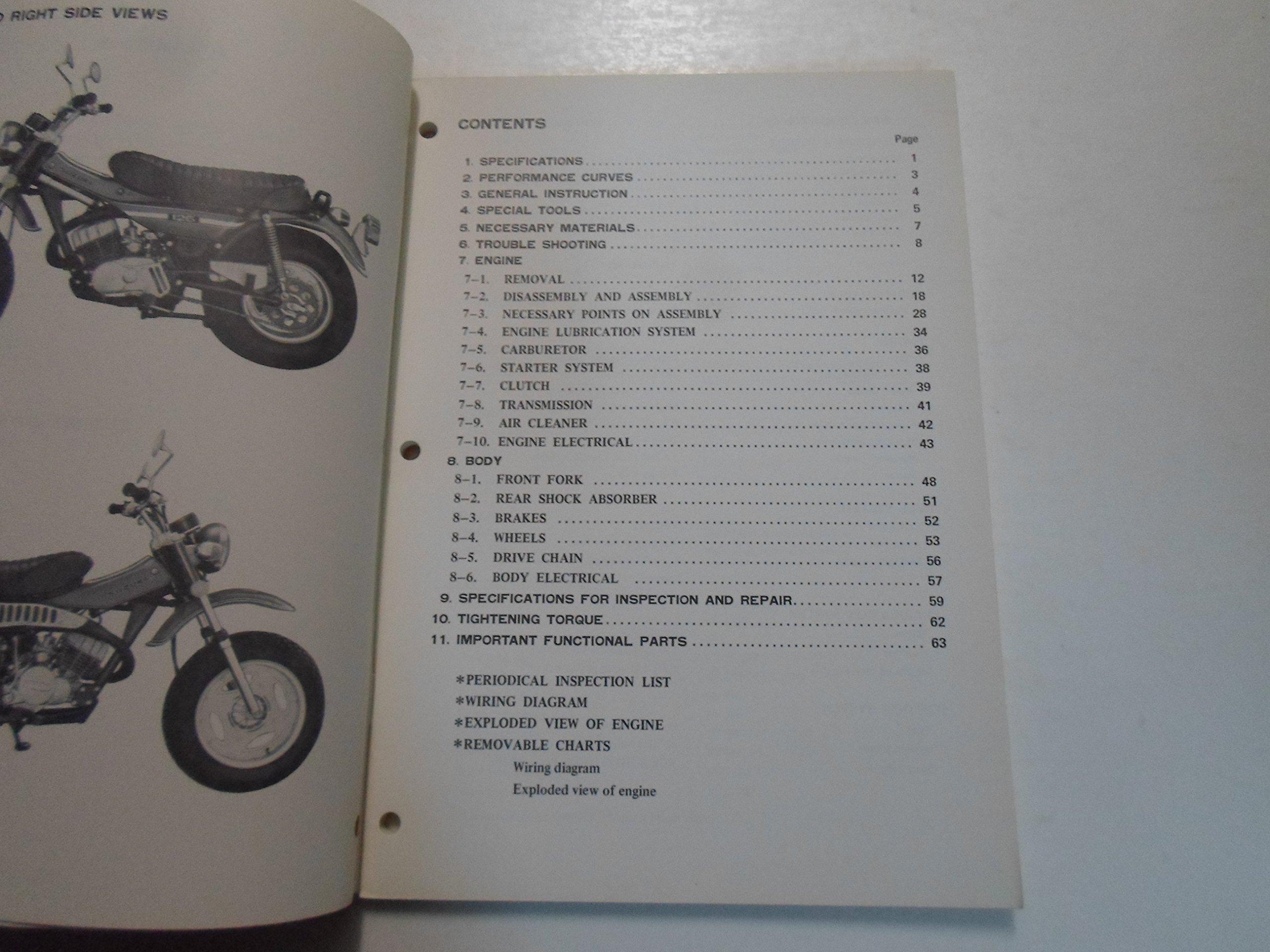 1974 Suzuki Model Rv125 Service Repair Shop Manual Minor Wear Rv 125 Wiring Diagram Books