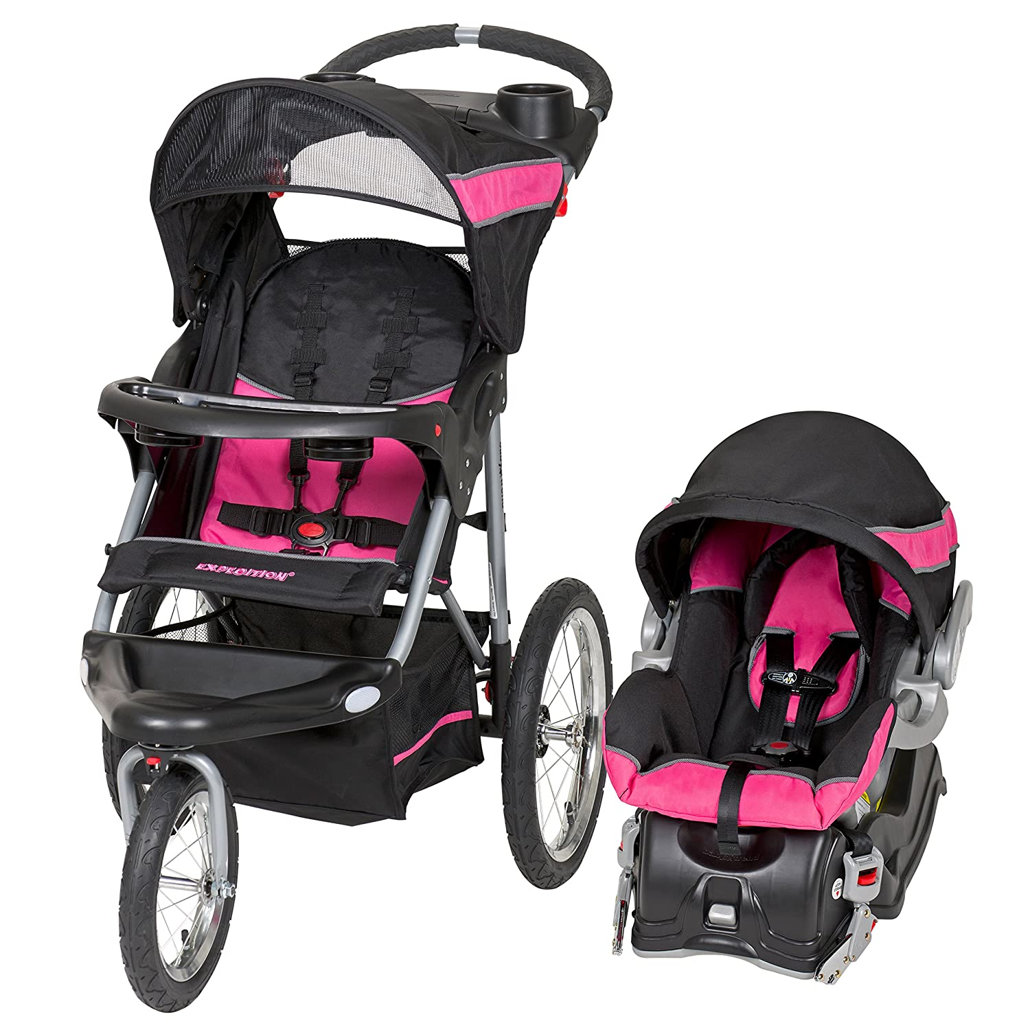 Amazon.com : Baby Trend Expedition Jogger Travel System, Bubble Gum ...