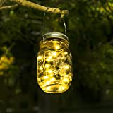 Solar Lights For Garden - Mason Jar Lights Waterproof Fairy Lights Garden Indoor/Outside String Lights For Garden, Fence, Patio, Yard, Walkway, Driveway, Stairs,Christmas Decorations (Warm White)