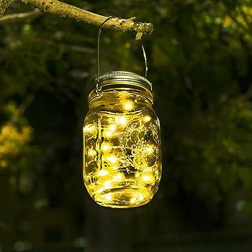 timeless design 9d66e cc694 Solar Lights For Garden - Mason Jar Lights Waterproof Fairy Lights Garden  Indoor/Outside String Lights For Garden, Fence, Patio, Yard, Walkway, ...
