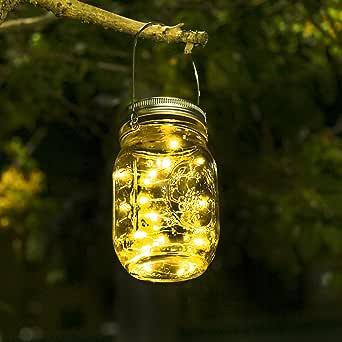 Luces De Jardin Solares - Luces De Exterior Jardin Impermeable Cadena De Luces Led Foco Solar Led Exterior Para Jardín, Patio, Terraza, Garaje, Camino de Entrada, Escaleras: Amazon.es: Iluminación