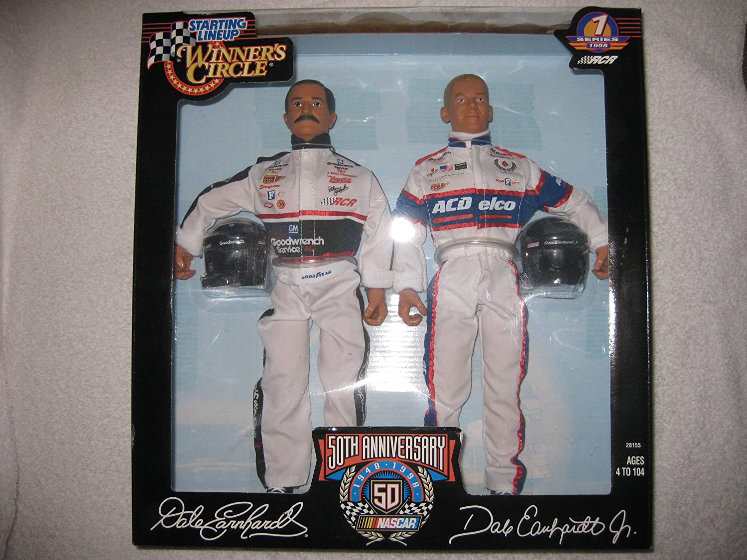 mas barato 1998 1998 1998 Series 1 Winners Circle 50th Anniversary Starting Lineup Dale Earnhardt and Dale Earnhardt Jr by Kenner  Ven a elegir tu propio estilo deportivo.