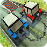 Chained Tractor Race Driving : Farming Simulator