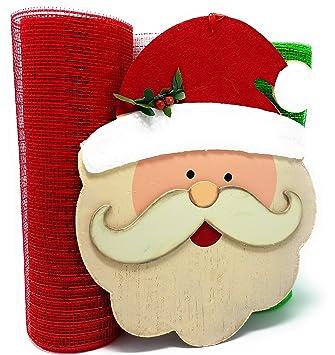 Amazon.com: Kit de corona de malla de Navidad, incluye ...