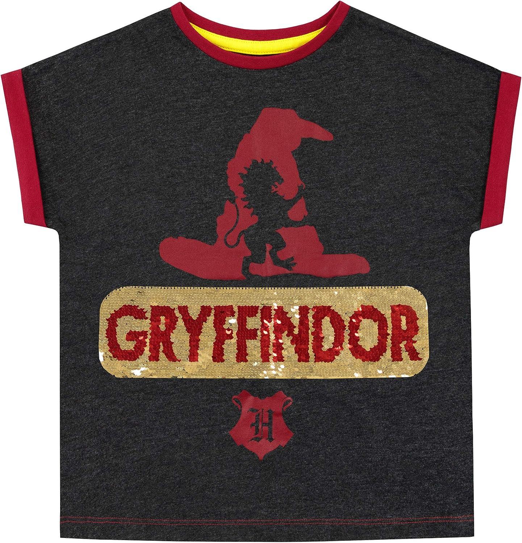 HARRY POTTER Camiseta de Manga Corta para niñas Gryffindor