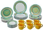 Aparelho de Jantar e Chá 30 Peças Oxford Daily Floreal Bilro Multicor