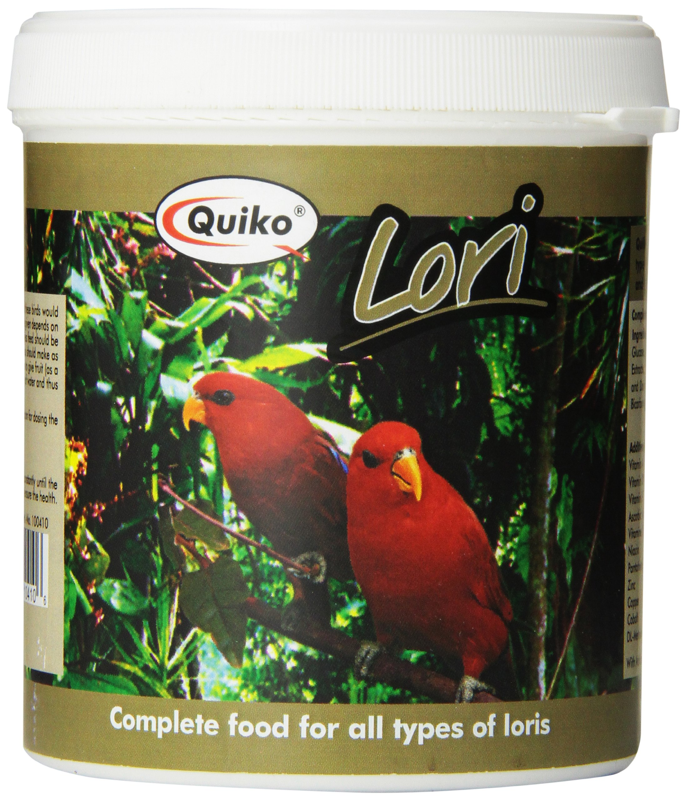Quiko Lori - Complete Food For Nectar Eating Birds, 12.37 Ounce Recloseable Container by Quiko