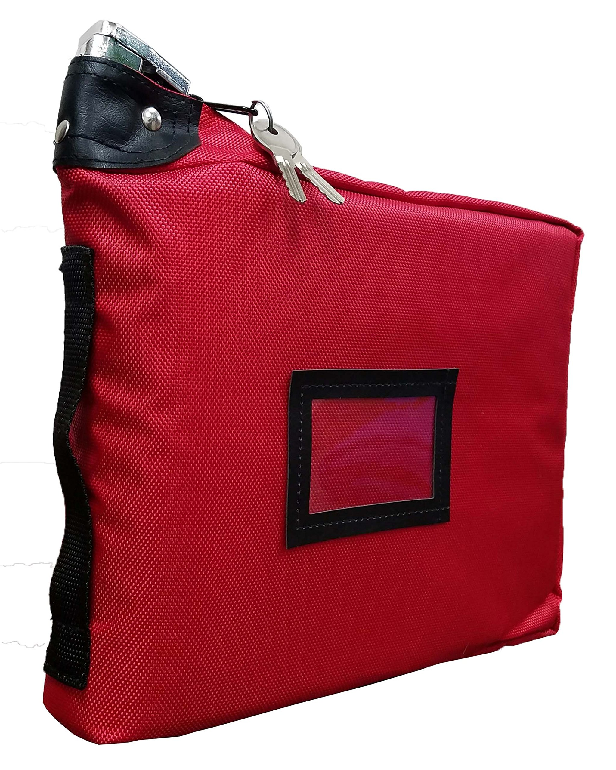 Prescription Medication Bag Standard Lock Travel Case (Red)