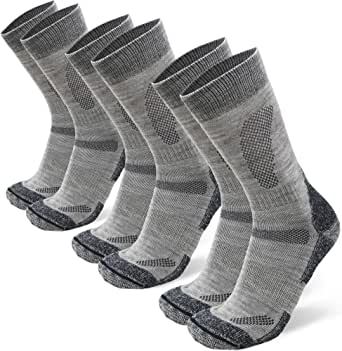 DANISH ENDURANCE Merino Wool Hiking & Walking Socks 3-Pack for Men, Women & Kids, Trekking, Outdoor