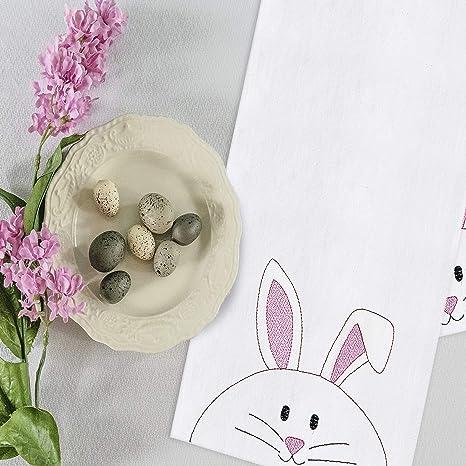 bunny tea towel rabbit decor bunny tea towel spring decor flour sack towel Rabbit tea towel rabbit towel kitchen towel