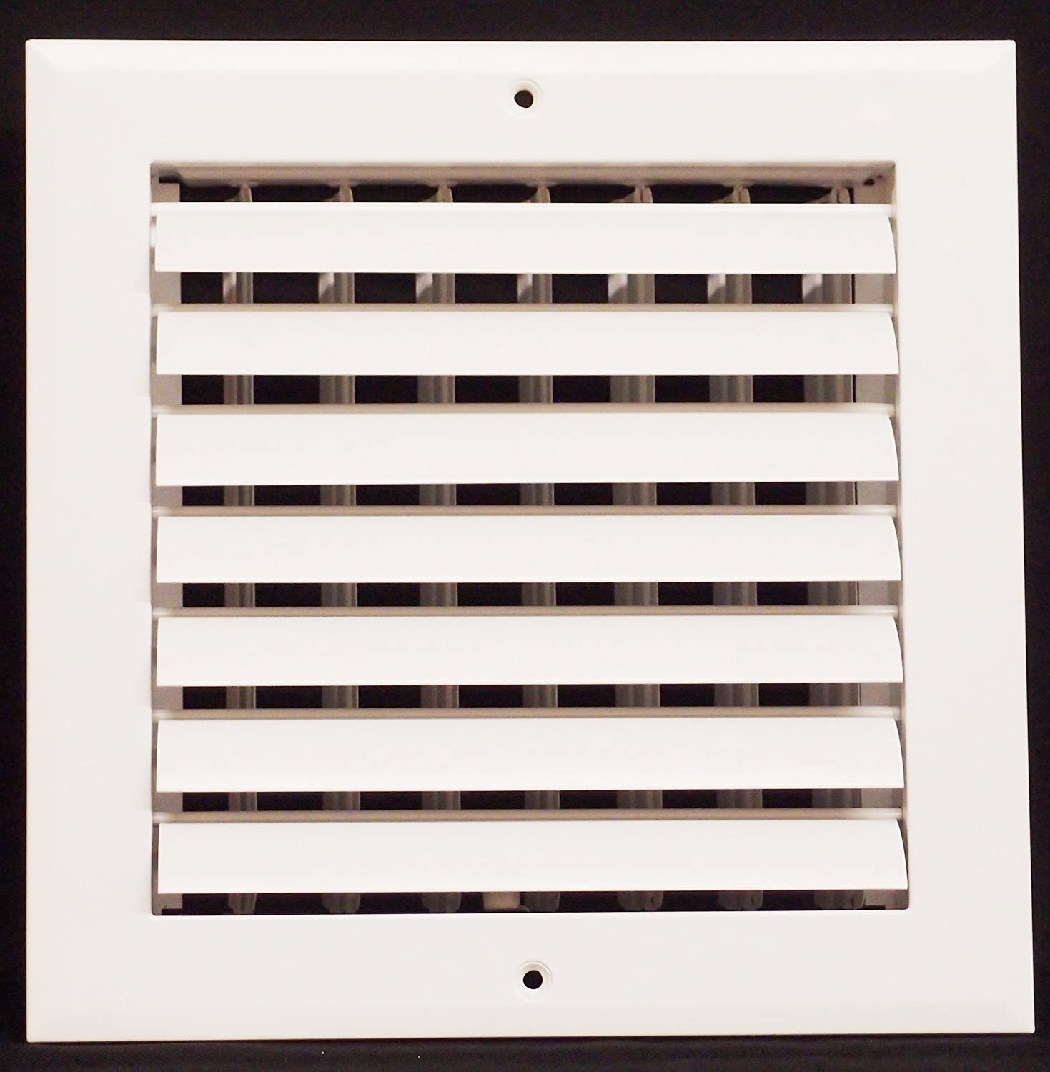 "8"" x 8"" - 1-Way Air Vent - Adjustable Aluminum Curved Blades - Maximum Air Flow - HVAC Grille"