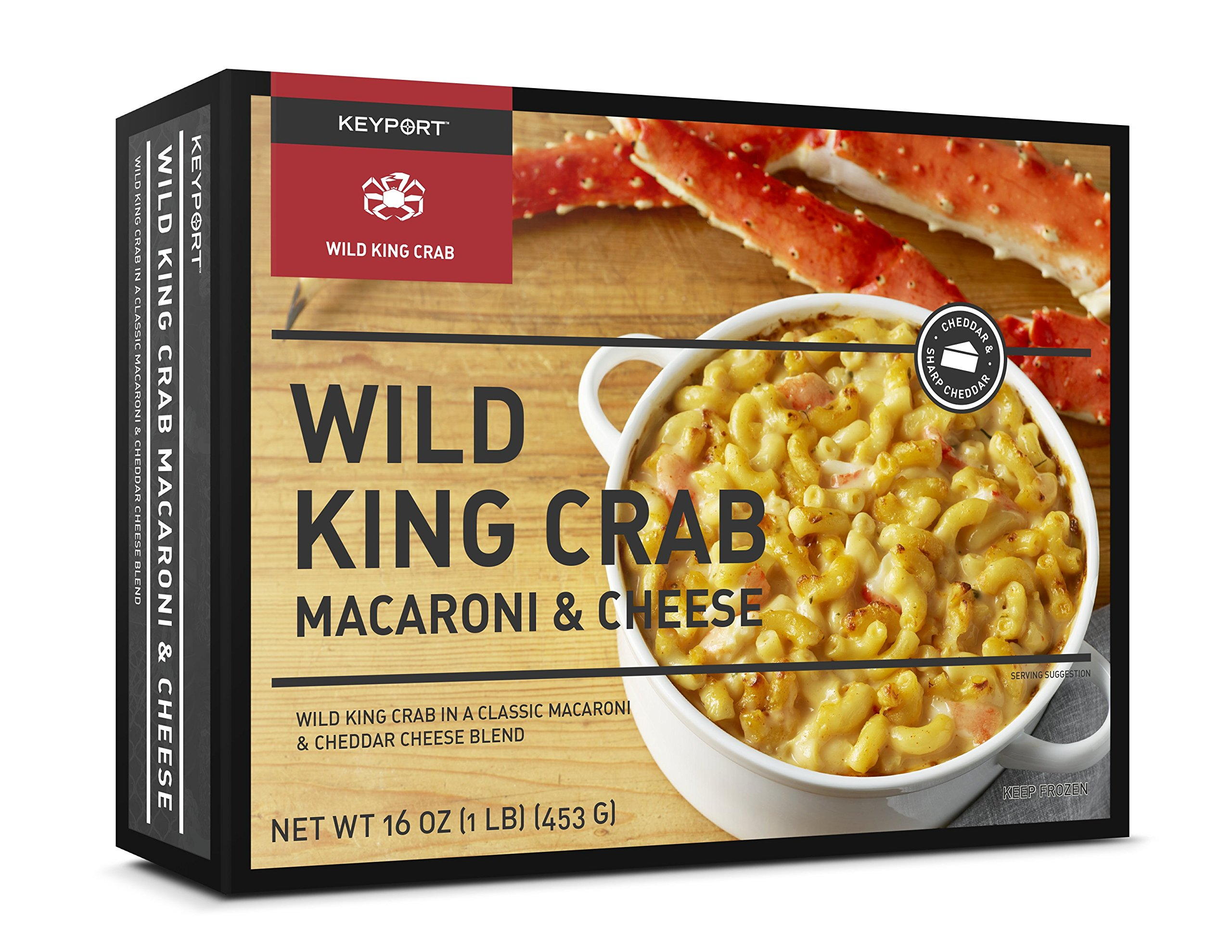 Keyport Seafood Macaroni & Cheese Variety Pack of 8 Meals - Two each of King Crab, Salmon, Lobster, and Shrimp & Scallop Mac and Cheeses by Keyport LLC
