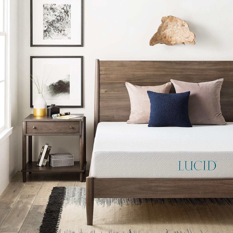 Amazon.com: LUCID 8 Inch Gel Infused Memory Foam Mattress - Medium Firm  Feel - CertiPUR-US Certified - 10 Year U.S. warranty - Queen: Kitchen &  Dining