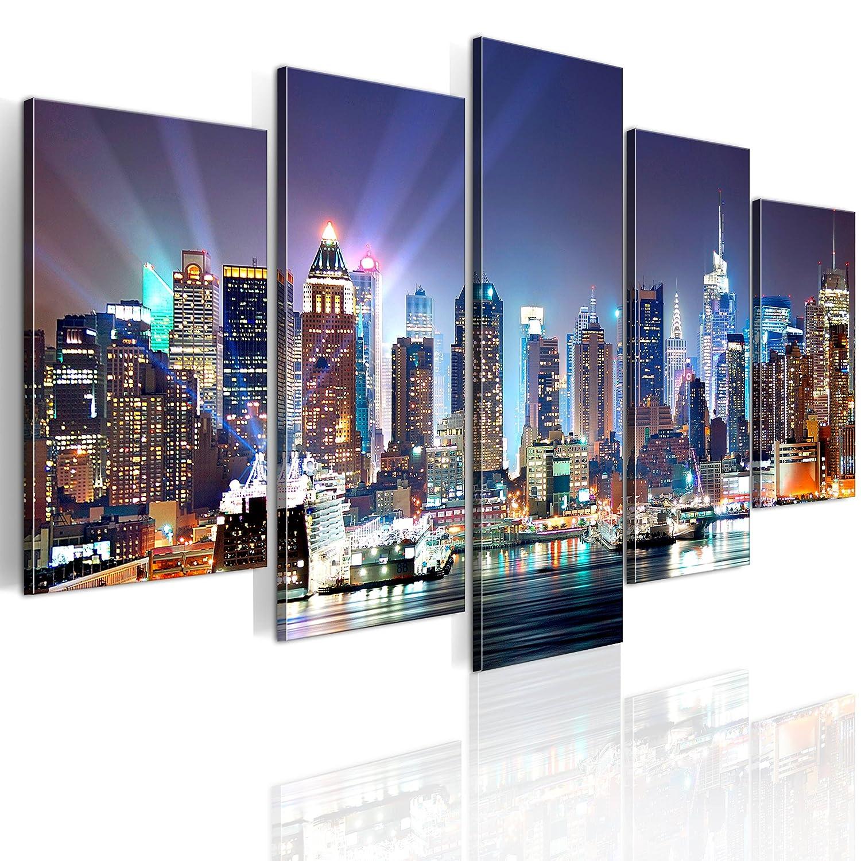 BD XXL murando - Quadro 100x50 cm - 5 Parti - Quadro su tela fliselina - Stampa in qualita fotografica - New York 9020099