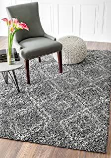 Cozy Soft And Plush Moroccan Grey Shag Area Rugs, 8 Feet By 10 Feet (