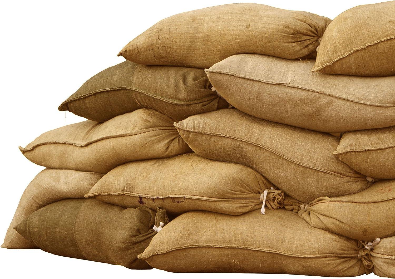 50 Hessian Sandbags Sand Bags Sacks Flood Prevention