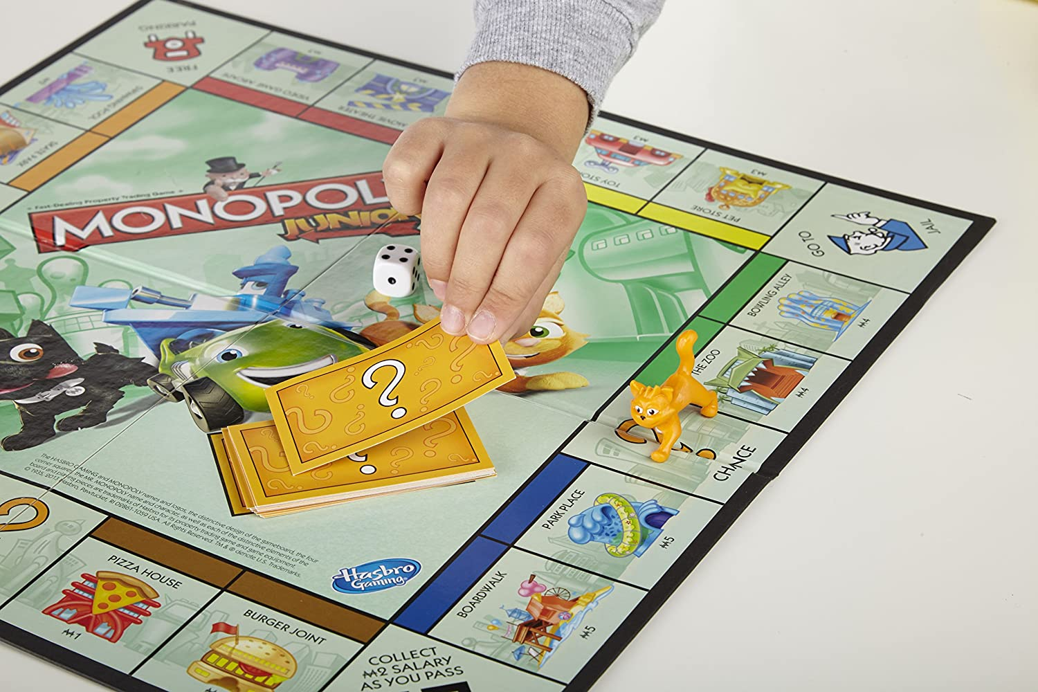 Hasbro Gaming Monopoly Junior Juego De Mesa Version En Aleman