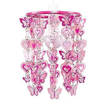 Motifs Et Moderne Cœur Abat Jour Avec Papillons Pour Minisun SuspensionRoseblanc mynvN0wO8P