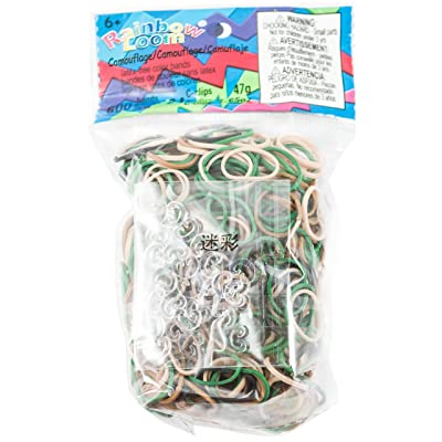 Rainbow Loom Camo Rubber Bands with 24 C-Clips (600 Count): Toys & Games