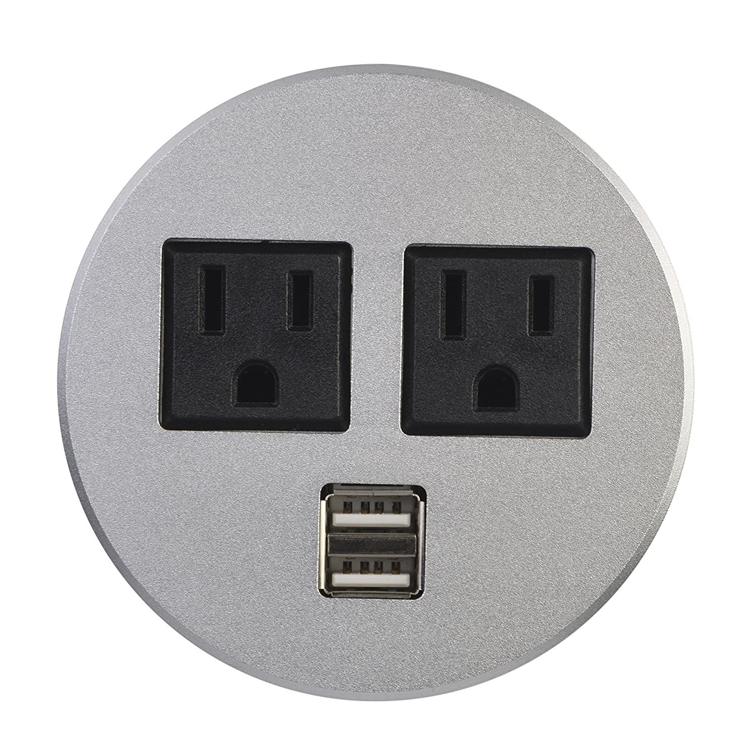 Professional Power Hub Data Tap grommet With 2 X AC Outlet And 2 X USB Port (Black) Kungfuking 4330213652