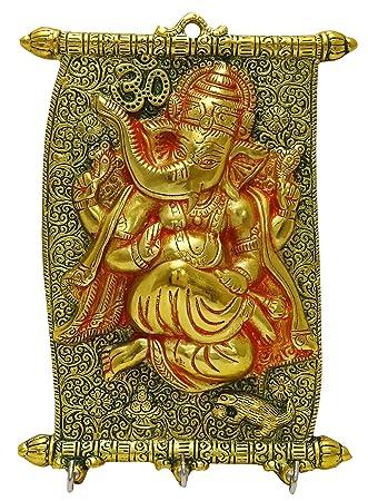Amazon.com: Decorative Religious Lord Ganesha Design Wall Hanger ...