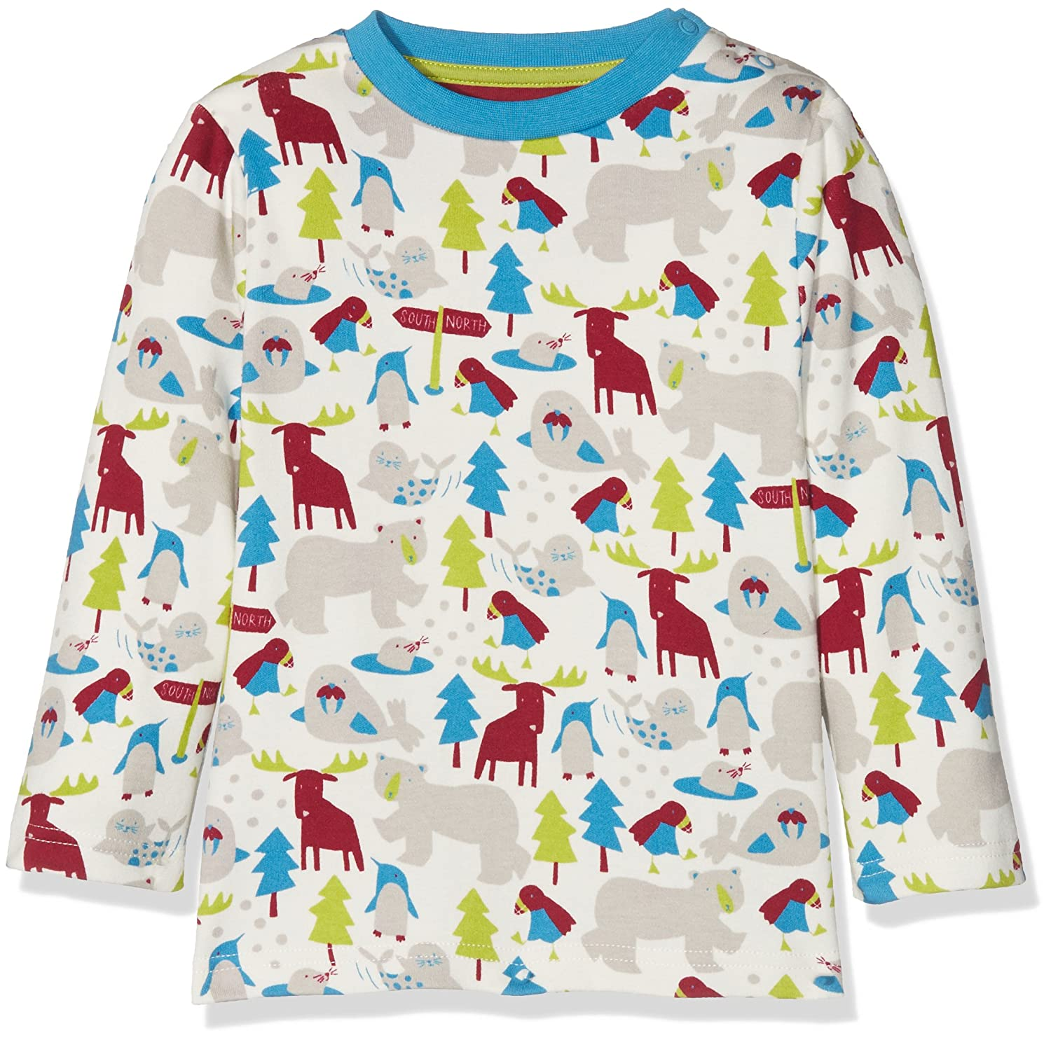 Kite Baby-Jungen Langarmshirt Ice Animals T-Shirt BB941