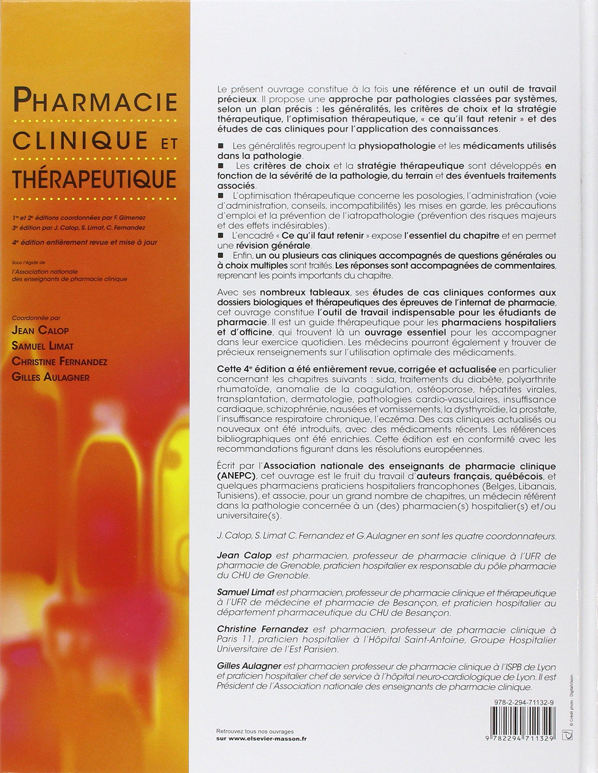Pharmacie clinique et thérapeutique (French Edition)
