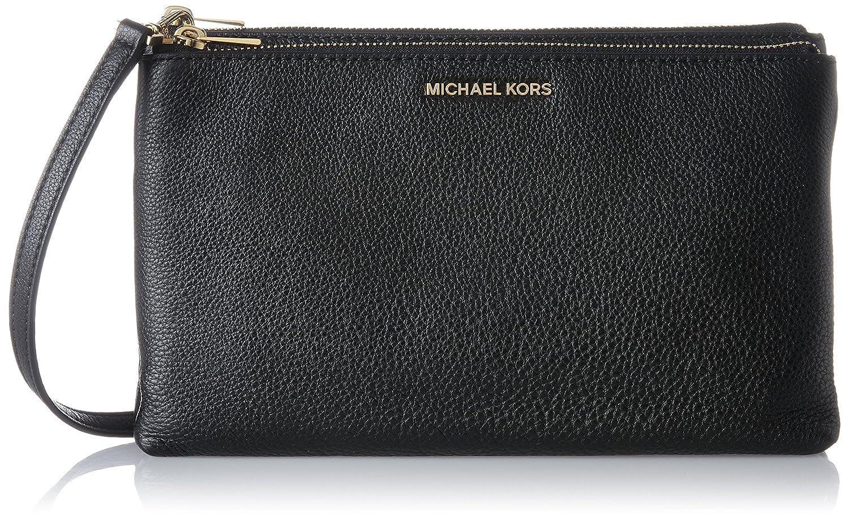 18b1b80b0d0b03 Michael Kors Womens Adele Cross-Body Bag Black (Black): Handbags: Amazon.com