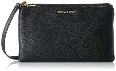 6ac3fe9b32b02b Michael Kors Womens Adele Cross-Body Bag Black (Black): Handbags ...