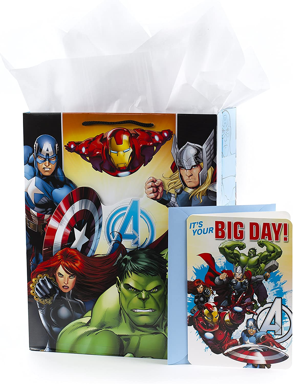 Amazon.com: Hallmark 5 wdb1089 Avengers Bolsa de regalo con ...