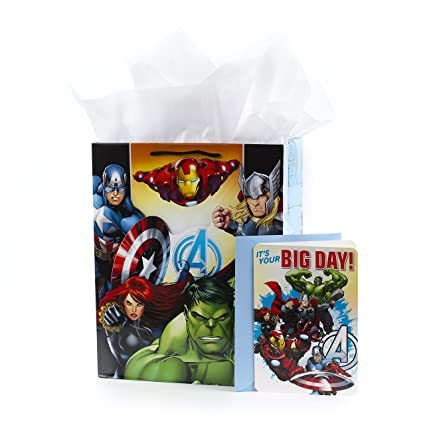 Amazon Hallmark Large Avengers Birthday Gift Bag With