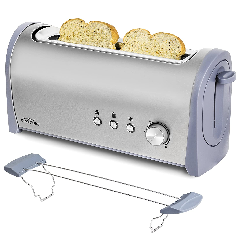 Cecotec Tostadora Steel Toast L Con capacidad para dos tostadas Ranura XL