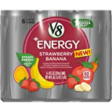 V8 +Energy, Juice Drink with Green Tea, Strawberry Banana, 8 oz. Can, 6 Count