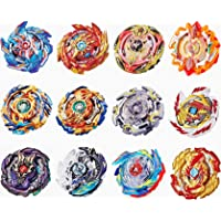 GiGimelon Gyros 12 Pieces Pack, Bey Battling Top Battle Burst High Performance Set, Birthday Party School Gift Idea Toys for Boys Kids Children Age 6+