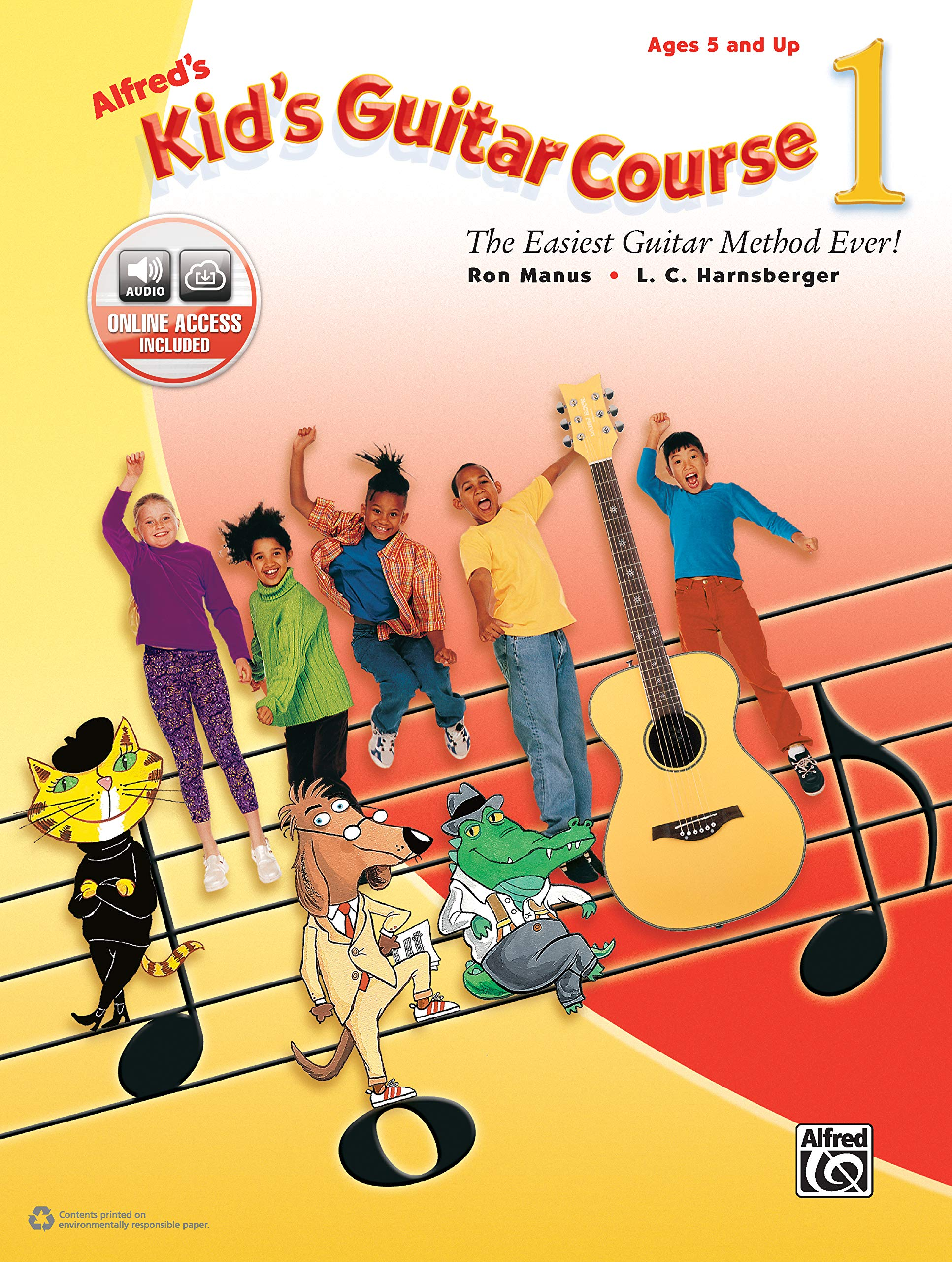 Alfred's Kid's Guitar Course 1: The Easiest Guitar Method Ever!, Book & Online Audio by Hal Leonard
