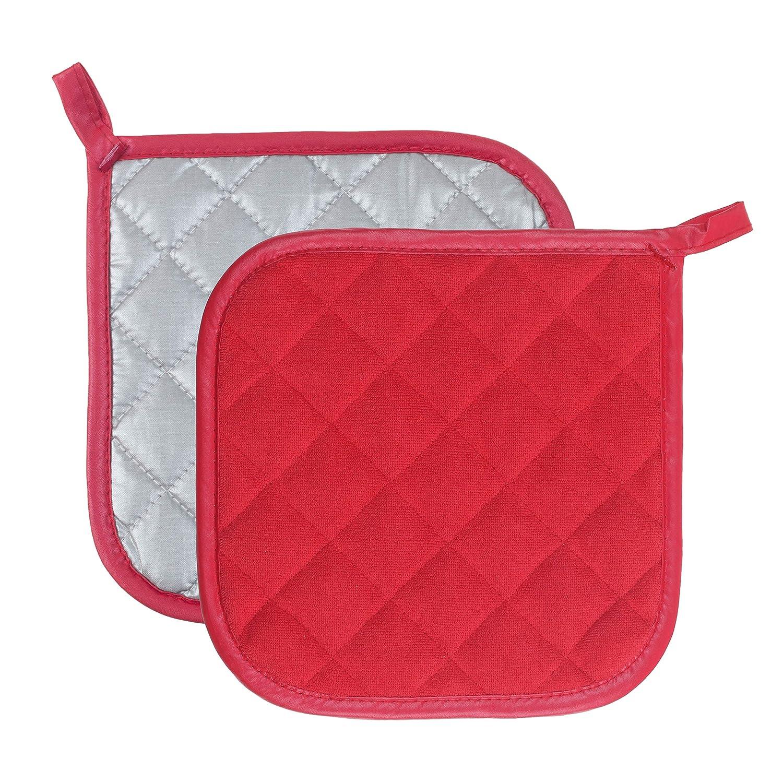 Pot Holders Cotton Made Machine Washable Heat Resistant Potholder Pot Holder Hot Pads Trivet for Cooking and Baking 5, Beige