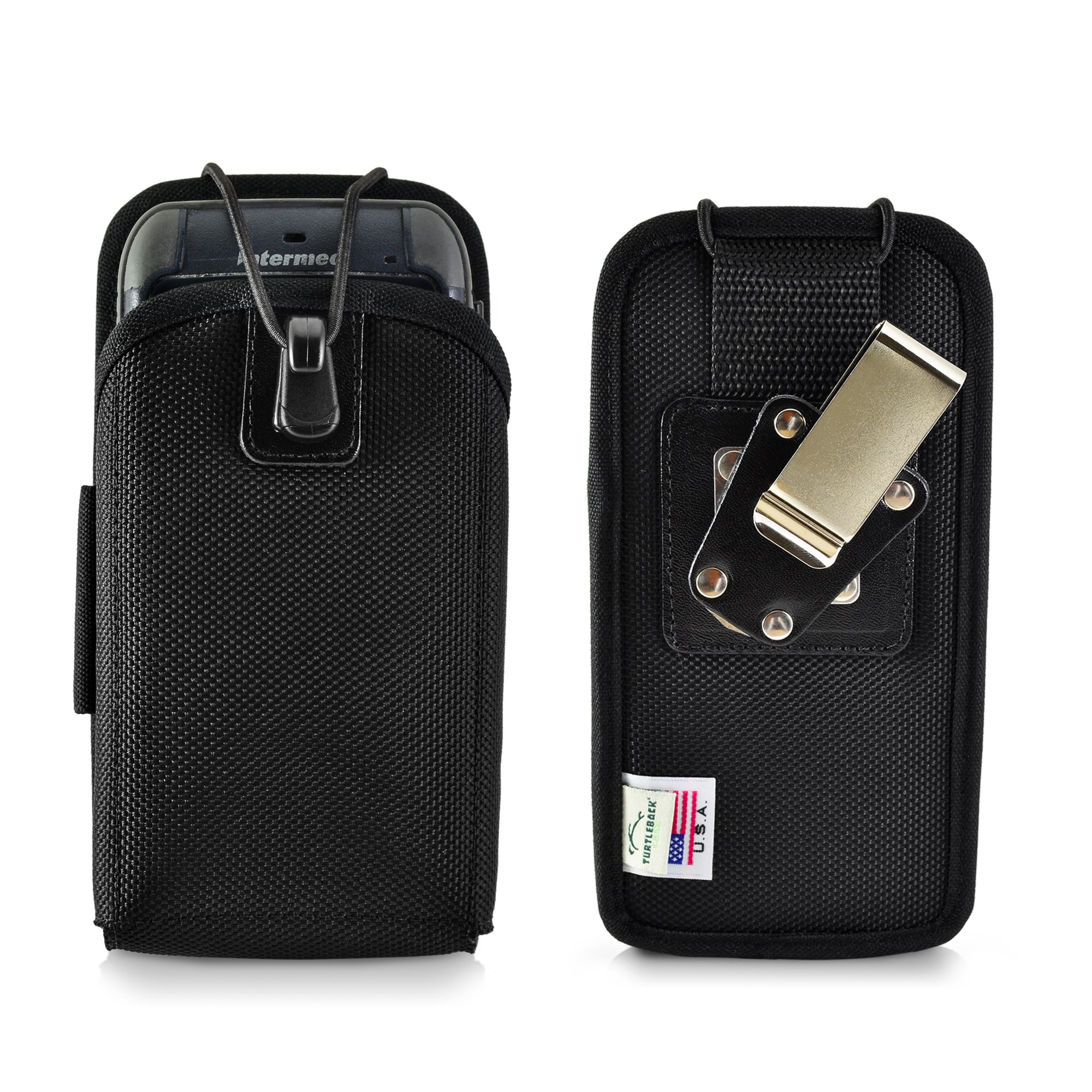 Turtleback Mobile Computer Case made for Intermec CN70 Touch Computer Nylon Holster, 2 Belt Clips (Metal Clip & Belt Loop) Mobile Scanner Holder Fits devices 6 3/4''X 3 1/4''X 1 1/2''