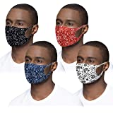 New 3D Unisex Bandana Paisley Pattern Face Protective Covering Gear Washable Reusable Breathable (Set of 4)