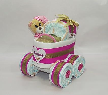 """pañales pañales para tartas – Cochecito XL de neumáticos """"Princesa + Oso"""