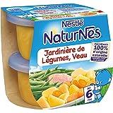 Nestlé Bébé Naturnes Jardinière de Légumes Veau Plat complet dès 6 mois 2 x 200g - Lot de 4