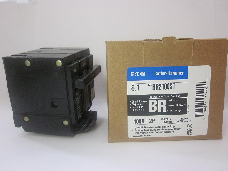 Cutler Hammer Br2100st Circuit Breaker 2 Pole 100 Amp With Shunt Trippingcircuitbreakerpaneljpg Trip Thermal Magnetic Breakers