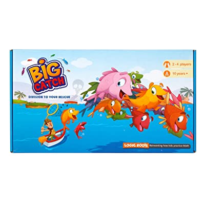 LogicRoots Big Catch Advanced Division Board Game Stem Toy Math Resource…: Toys & Games