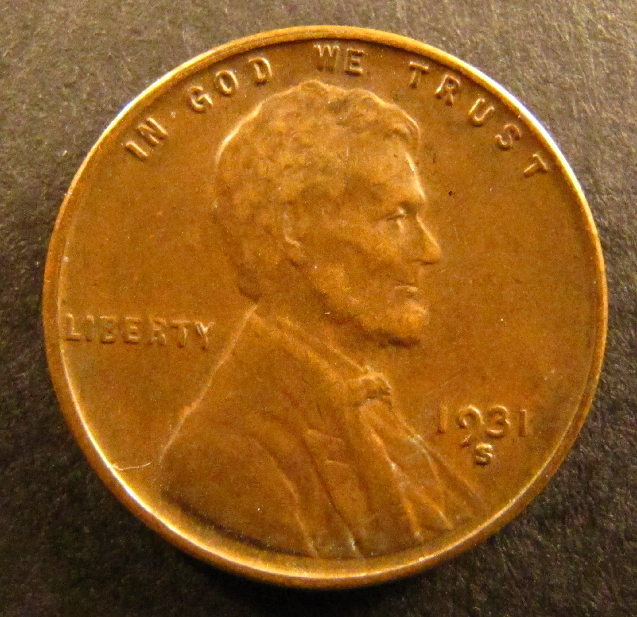 1931 S Lincoln Cent Wheat Penny High Grade